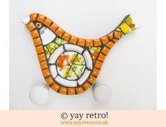 140: Orange Floral Mosaic Bird (£18.00)