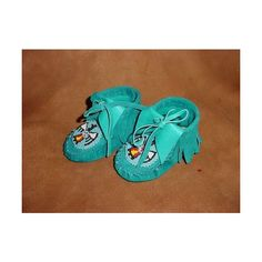 turquoise baby moccasins