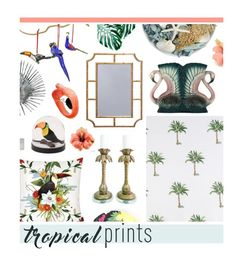 """""""Tropical Prints- Home"""" by hellodollface ❤ liked on Polyvore featuring interior, interiors, interior design, home, home decor, interior decorating, Worlds Away, Pier 1 Imports, Couture Lamps and Panama Jack"""