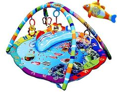 Musical Ocean Sealife baby toy play mat activity gym: Amazon.co.uk: Baby