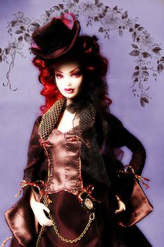 Malwina - Victorian Vampire - ooak barbie