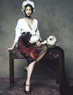 Harper's Bazaar Korea January 2014. #fashion #photography #gucci