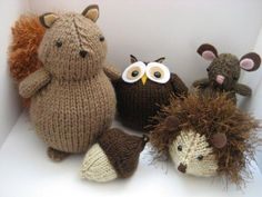 Woodland Animals Knit Pattern Set - available in Little Knitted Creatures