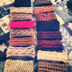Cable Knit Headbands. Very cute :)