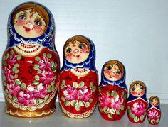 Helen matreshka traditional russian nesting doll by Viktoriyasshop, $53.00