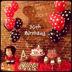 MAFALDA'S THEMED SWEETS TABLE AND BALLOONS DECOR