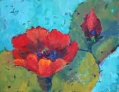 """""""Cactus Bloom 3 Contemporary Southwest Art Paintings"""" - © Amy Whitehouse"""