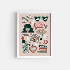Wild Feminist - Earthy – Paper Edited Bold Prints, Earthy, Girl Outfits, Printables, Teaching, Paper, Illustration, Stationary, Tech