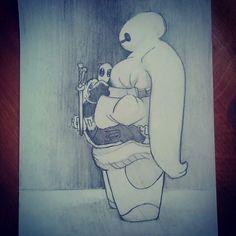 #marvel #disney #deadpool #bighero6 #baymax #drawing