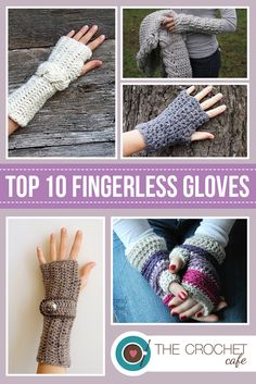 Top 10 Fingerless Gloves Patterns via Happily Hooked Fingerless Gloves Crochet Pattern, Fingerless Mittens, Crochet Wrist Warmers, Hand Warmers, Crochet Shoes, Crochet Scarves, Crochet Slippers, Crochet Round, Free Crochet