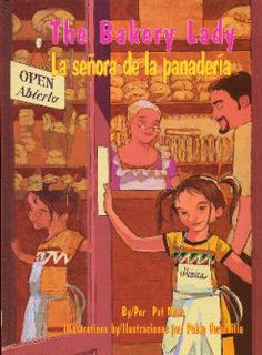 """""""La Señora de la Panadería"""",  escrito por Pat Mora es un libro  bilingüe sobre una niña llamada Mónica que quiere trabajar en la panadería de sus abuelitos. Llega el día de los Reyes Magos y Mónica quiere que le toque el muñequito de la rosca para hacer su fiesta en Febrero. Este libro viene con una cultura y tradición que muchos estudiantes bilingües celebran. El libro puede ser usando en una clase de segundo oh tercer grado."""