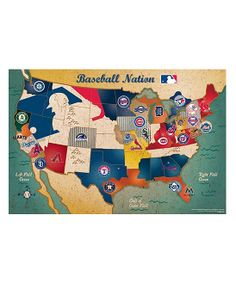 MLB USA Map Puzzle