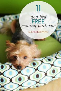 Download one of our free dog bed patterns! These sewing patterns for your pup will keep them comfy and cozy.