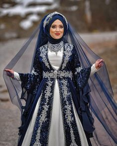 ✔ Dress Designs Indian New Muslimah Wedding Dress, Muslim Wedding Dresses, Hijab Bride, Wedding Hijab, Bridal Dresses, Dress Wedding, Turkish Wedding Dress, Indian Wedding Gowns, Beautiful Dress Designs