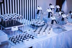 Jareds Black And White Little Gentleman Themed Party 1st Birthday