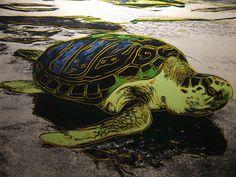 Endangered Species Series: Sea Turtle, by Andy Warhol, 1985