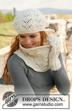 Free knitting pattern:  hat, scarf, gloves