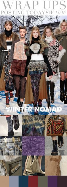 WrapUps | Trend Council AW 15/16 I like the winter nomad  concept. Very Arctic and Snow Queen.