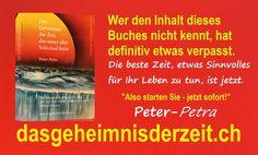 """""""Auch der grösste ERFOLG beginnt mit AET!"""" - Autogenes Erfolgstraining und Das Geheimnis der Zeit, das unser aller Schicksal lenkt. - Autor Peter-Petra"""