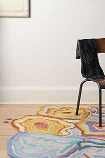 Anthropologie - Whorled Felt Rug