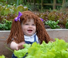 Cabbage Patch Kid costume for Halloween.
