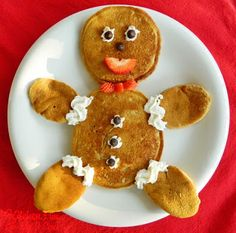 Gingerbread Boy and Girl Pancakes
