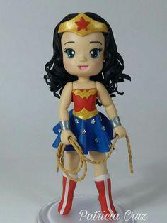 Wonder Woman Cake, Superhero Cake, Supergirl, Boy Birthday, Chibi, Biscuits, Cake Decorating, Avengers, Clay