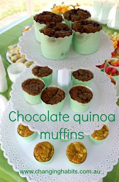 Chocolate Quinoa Muffins CHANGING HABITS