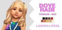 guys. i'm on such a cc making streak, don't mind me. here's another hair for your cute tots. i like this one a lot, so I hope you guys do too ♥ ★ info & download link below ★ [[MORE]]• toddlers only •...