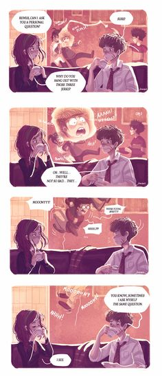"The Marauders and Lily - A ""Normal"" Afternoon in the Gryffindor Common Room. :) Space Dementia"