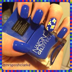 Baker Street Gel Effect Nails Inc #blue #floral See more #nailart - bellashoot.com (mobile-friendly), bellashoot iPhone & iPad app
