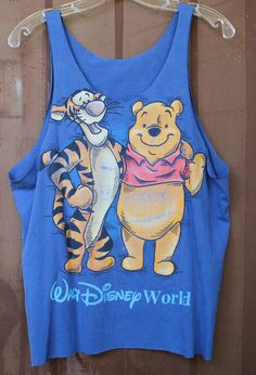 Tigger & Pooh Restyled Blue Tank Top
