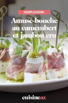 Pour votre apéro de Noël, les amuses-bouche camembert, jambon et olive sont faciles à réaliser.  #recette#cuisine#aperitif#apero #amusebouche #camembert #jambon #olive #noel#fete#findannee #fetesdefindannee