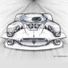 Maserati Tipo 151/3 pen sketches IIII by Vivien Kleczek