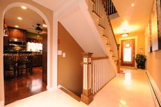 Stairwell to basement – Decorating Foyer House Staircase, Open Staircase, Staircase Remodel, Staircase Ideas, Staircases, Open Basement Stairs, Basement Bedrooms, Stair Renovation, Basement Renovations
