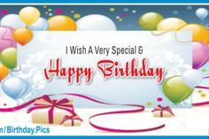 Very Special Happy Birthday Card