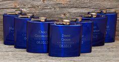 8 Set of 8 engraved Flasks Groomsmen flask by MemoriesMadeToronto