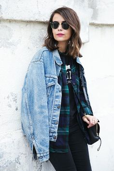 With Plaid Shirt