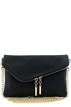 New Trending Cross Body Bags: Envelope Wristlet Clutch Crossbody Bag with Chain Strap Black. Envelope Wristlet Clutch Crossbody Bag with Chain Strap Black Special Offer: $17.95 133 Reviews Multi functional small envelope purse can be used as a wristlet, clutch or crossbody bag.9″ (L) x 6″ (H) x 1″ (D)Zipper closure with magnetic snap flapFaux leather ...