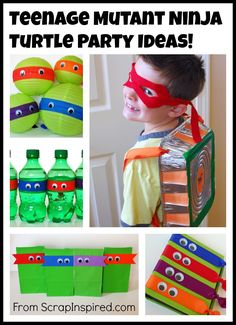 Teenage Mutant Ninja Turtle Party Ideas: Snacks & Goodie Bags This. Turtle Birthday Parties, Birthday Party Snacks, Ninja Turtle Birthday, Ninja Turtle Party, Diy Birthday, Ninja Turtles, Tmnt, Ninja Party, Teenage Mutant Ninja