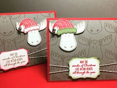 Such a fun Christmas card cased from the holiday Stampin' Up! Catalog. Come see how I did it!