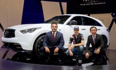 Sebastian Vettel and Carlos Ghosn bring in the new Vettel-inspired FX50.