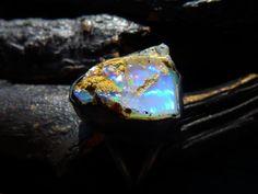 rough opal ring fire opal gemstone Brazilian jewelry by BeijoFlor, $119.00