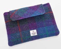 Clutch Purse for Ipad Mini in Harris Tweed Purple Heather £25.00