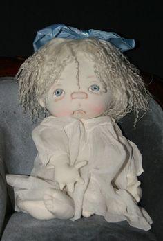GHOST BABY  by doll designer Jan Shackelford  $250  website janshackelforddolls.com      email for mailing list of new creations to janshackelford@dollsbyjanshackelford.com
