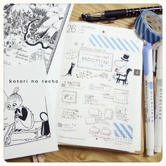daily page:: moomin | kotori #layout #Journal #hobonichi