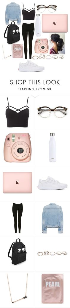 """""""Rose Gold"""" by joyneely ❤ liked on Polyvore featuring Charlotte Russe, Fujifilm, S'well, Vans, Topshop, rag & bone, GUESS, Sydney Evan and plus size clothing"""