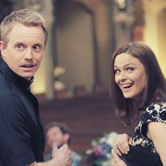 Emily and her husband, David on set during season 9 😊 #emilydeschanel #temperancebrennan #bones #davidhornsby