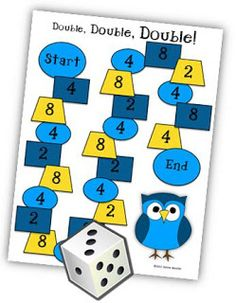 Math Coachs Corner: Multiplication Fact Game. this strategy makes connections between the 2s, 4s, and 8s.  If a student knows 2 x 5 = 10, then 4 x 5 would be double that, or 20, because 4 is double 2.  And 8 x 5 would be double 20, or 40, because 8 is double 4.  Hence the name of the game: Double, Double, Double.