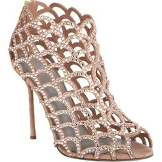 Crystal Cutout Shoe Bootie by SERGIO ROSSI; i think this is super cute!